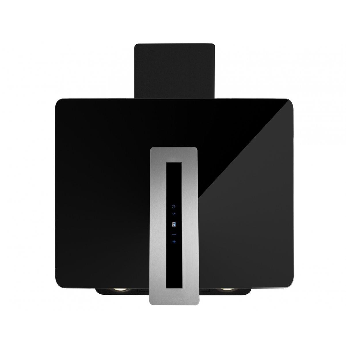 Vägghängd vertikal köksfläkt Astra svart glas 60cm/90cm