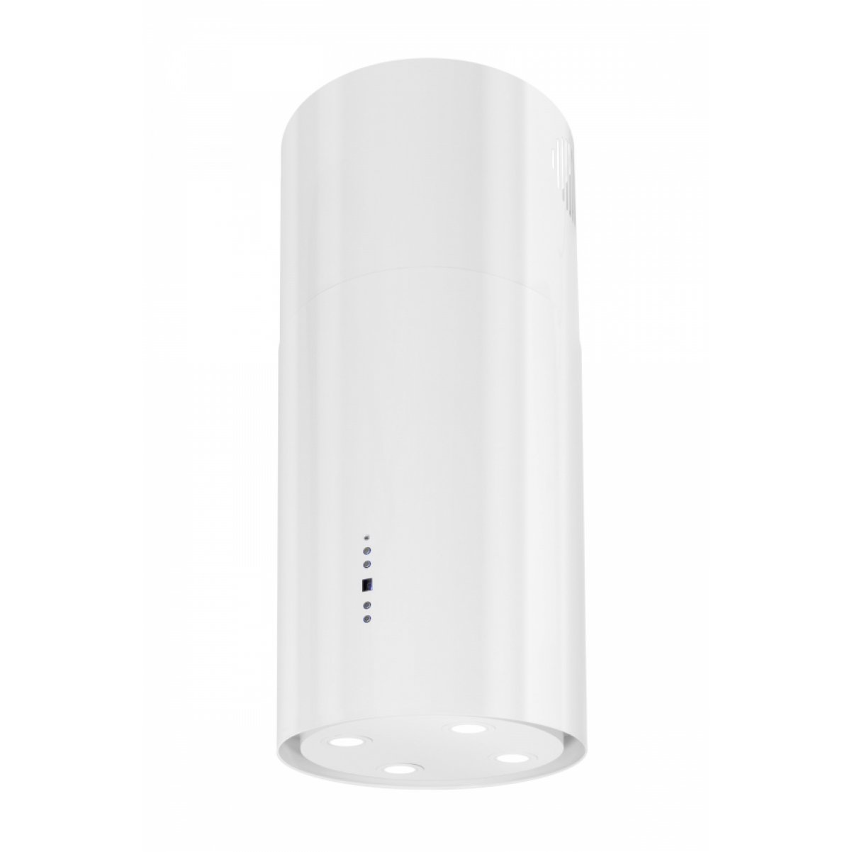 Design frihängande cylinderformad köksfläkt Explorer Lyx |vit