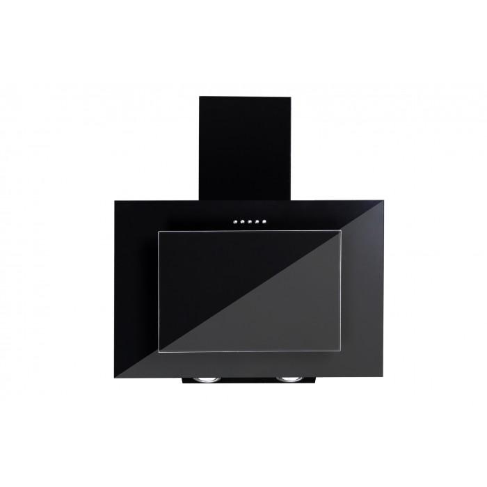 Vägghängd köksfläkt FIERRA svart  50cm/60cm/80cm/90cm + svart glas
