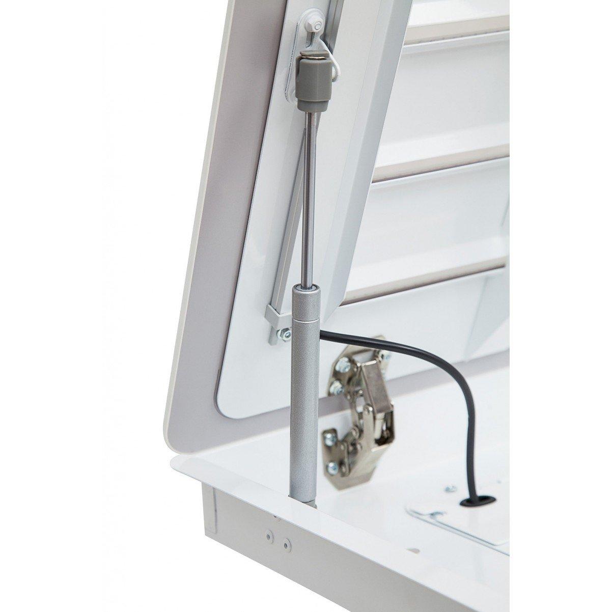 Tak-integrerad köksfläkt FUTURE vit glas 96cm / 120 cm