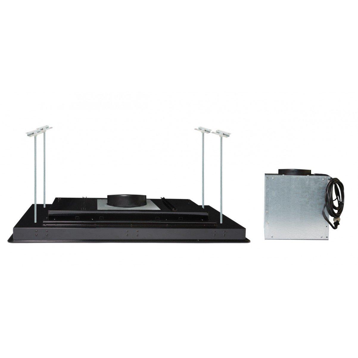 Tak-integrerad köksfläkt FUTURE svart glas 96cm / 120 cm