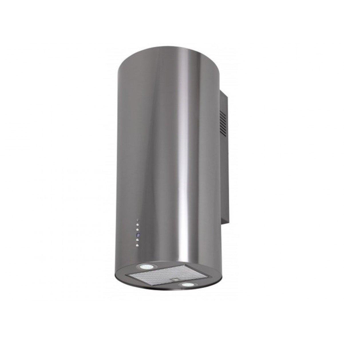 Vägghängd cylinder köksfläkt BALTIC 40 cm  vit / svart/ rostfritt stål