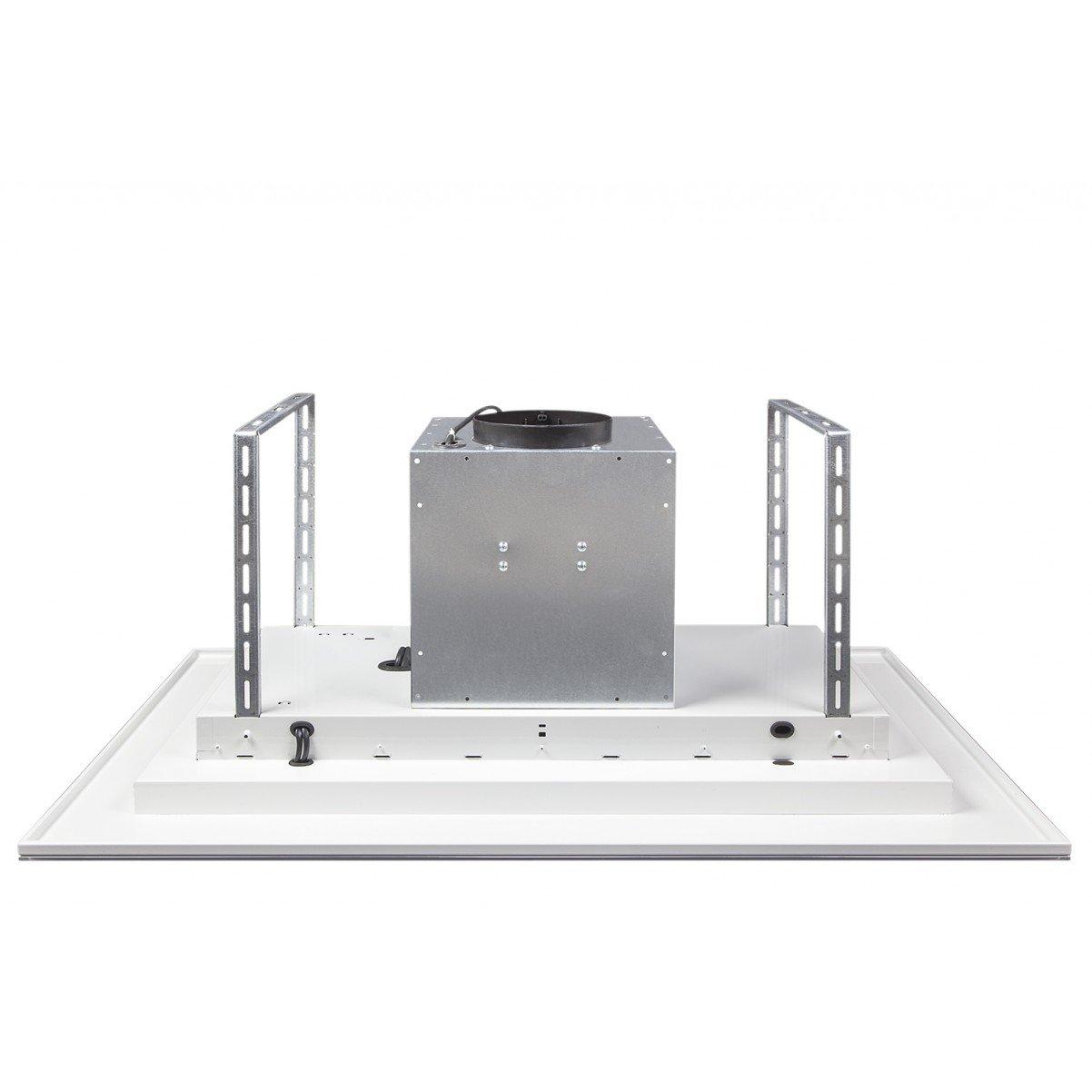 Tak-integrerad köksfläkt LYXOR ELITE vit glas 96cm / 120 cm