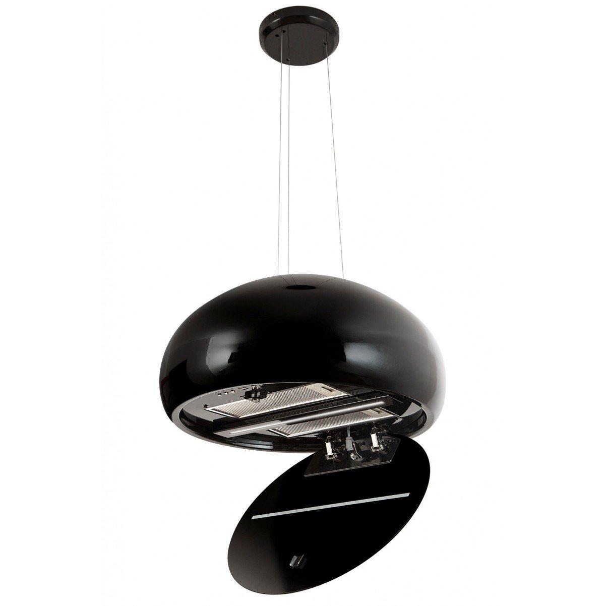 Exklusiv keramisk vajerhängd köksfläkt Impresario svart