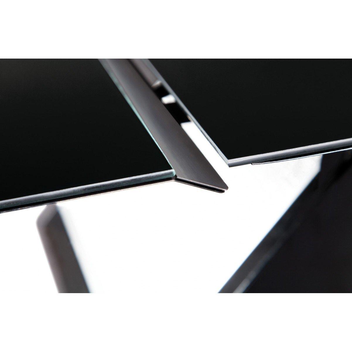 Vägghängd vertikal köksfläkt Kaskade LYX svart  glas 60cm/80cm/90cm