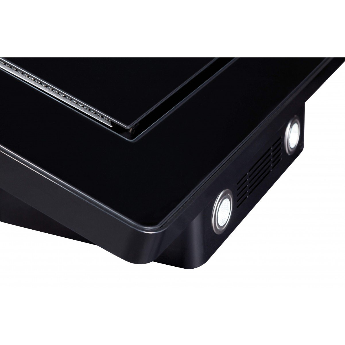 Vägghängd vertikal köksfläkt Magnum LYX svart  glas 60cm /90cm