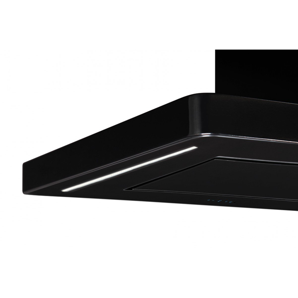 Lyx  frihängande köksfläkt Magnum svart glas 60cm/90cm