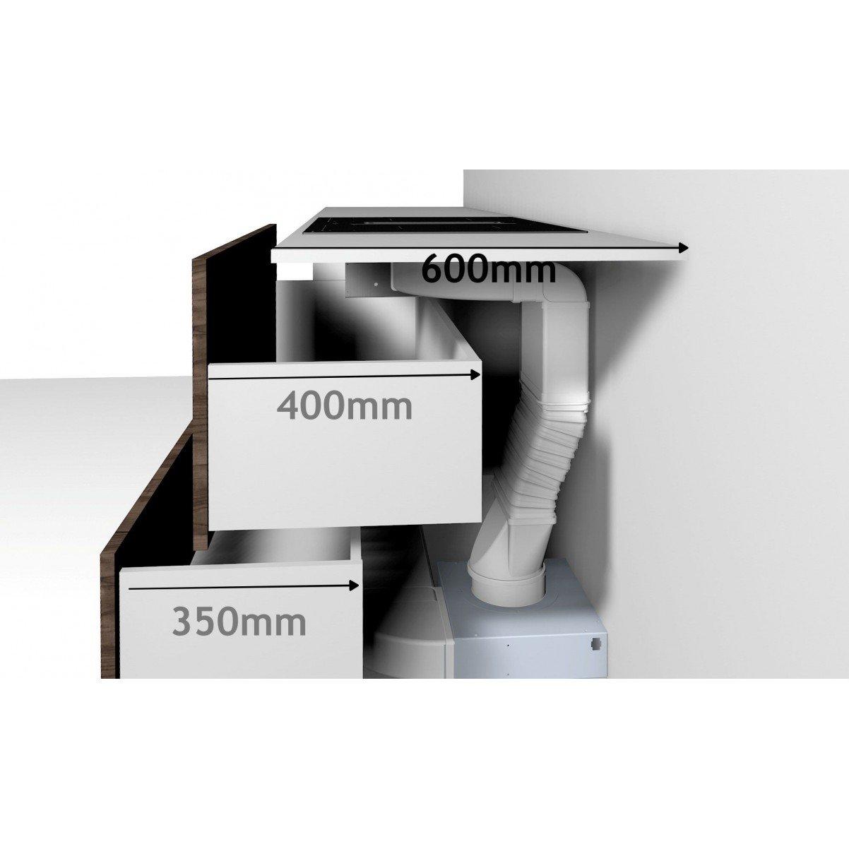 Premium line spishäll 80cm med inbyggd köksfläkt OMEGA Ω