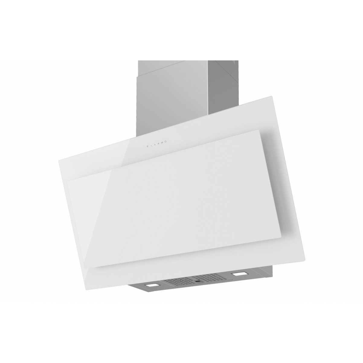 Premium line vertikal köksfläkt Vektor 60cm/90 cm vit/svart glas
