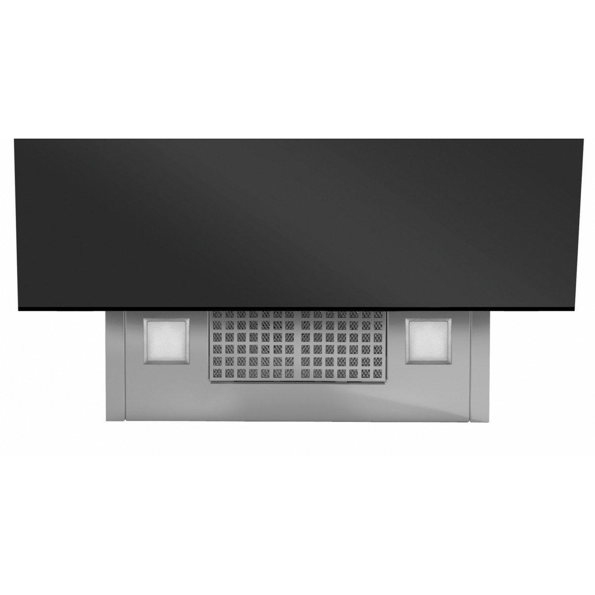 Premium line vertikal köksfläkt Vektor 90 cm vit/svart glas