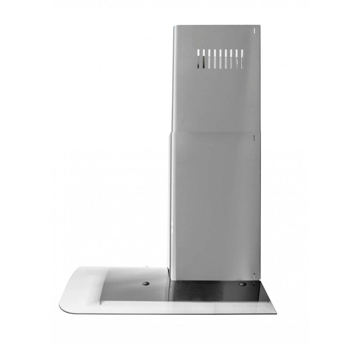 Vägghängd köksfläkt Kristall  60cm / 90cm rostfritt stål+ svart glas