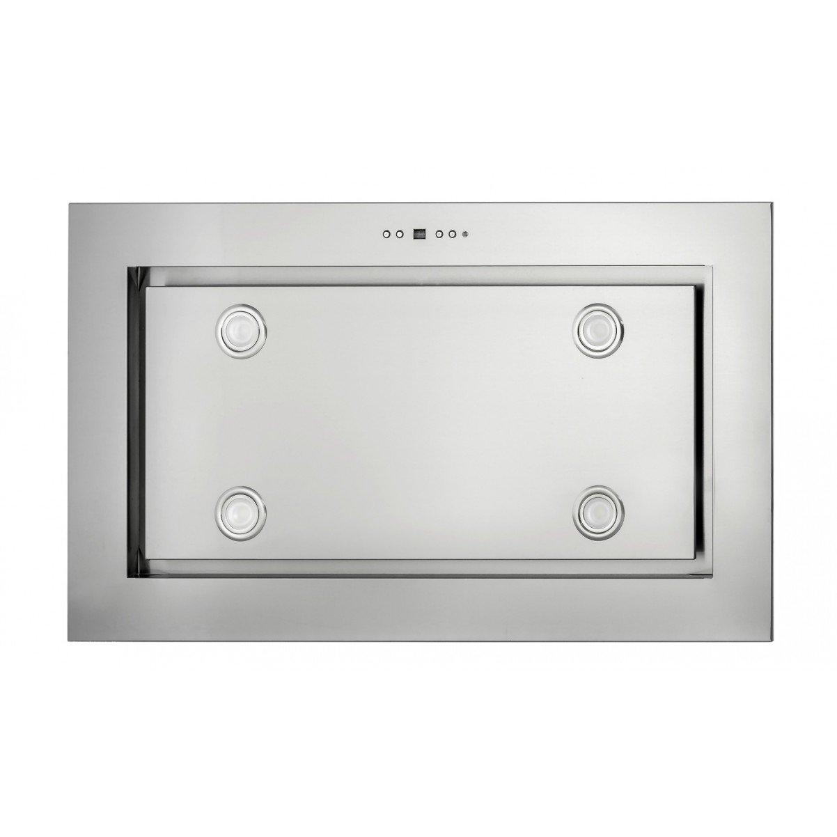 Tak-integrerad köksfläkt LYXOR borstat rostfritt stål 96cm/120cm