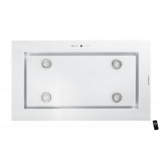 Tak-integrerad köksfläkt LYXOR  vit glas 96cm/120cm+ LED INTERN eller EXTERN motor