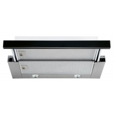 Utdragbar köksfläkt Nogran svart glas 50cm/ 60 cm/ 90cm  + LED