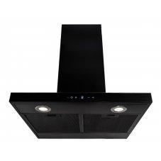 Lyx vägghängd köksfläkt PACIFIC 60cm / 90 cm svart matt