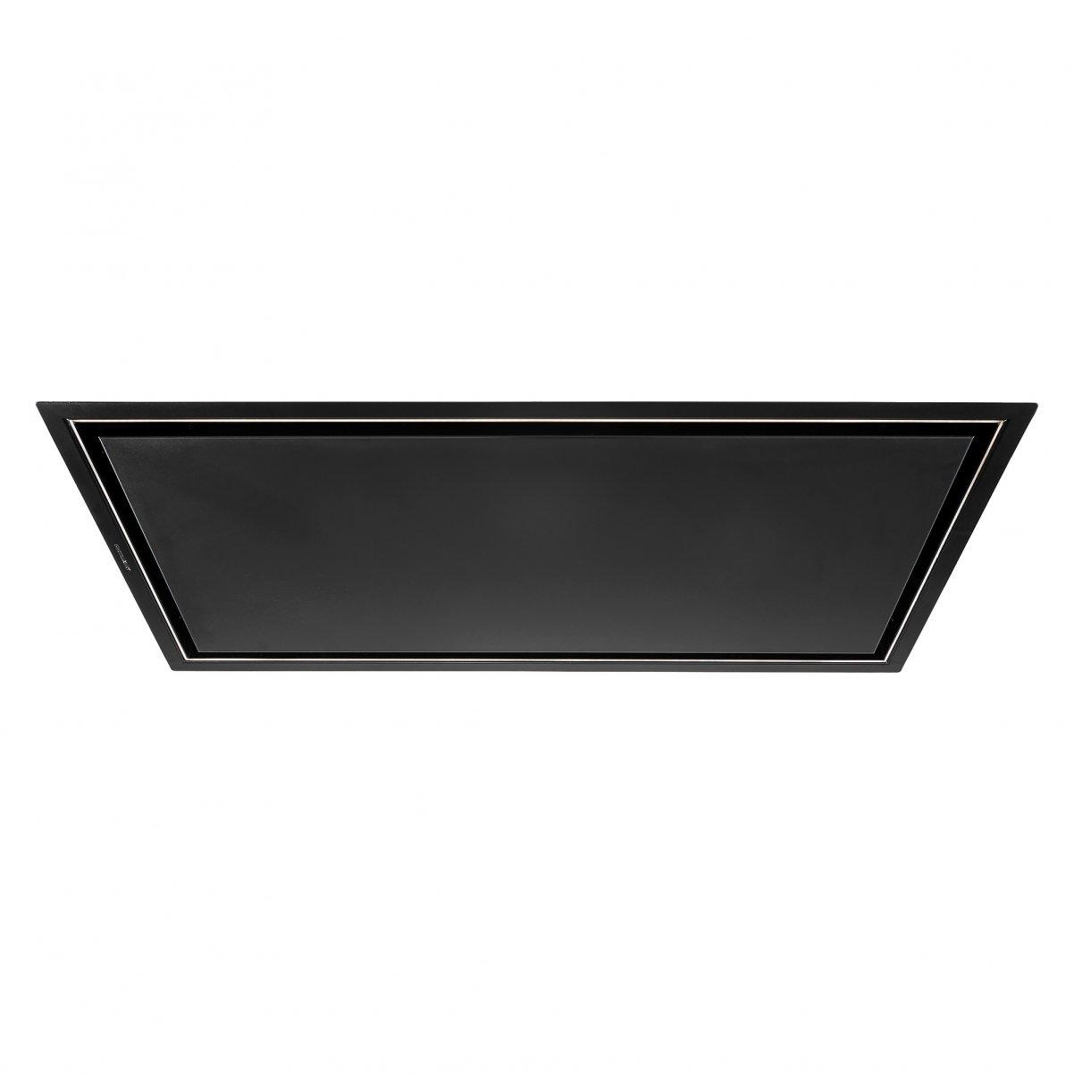 Premium line tak integrerad köksfläkt Swedluxury Pure svart matt   linjär LED belysning