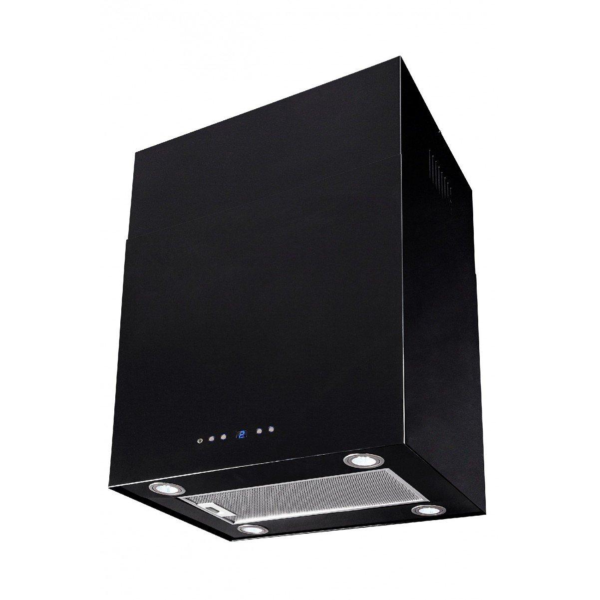 Lyx vägghängd köksfläkt SEMPRE 40cm / 60cm svart
