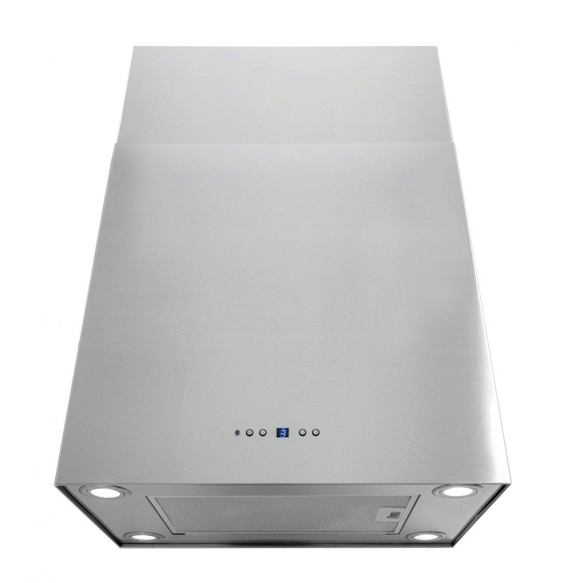 Lyx frihängande köksfläkt Sempre 40cm/ 60cm rostfritt stål /vit /svart